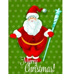 Santa Claus Christmas Day greeting card design vector image vector image