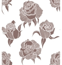 seamless light background with roses vector image vector image