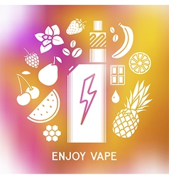 The taste of the electronic cigarette vector image vector image