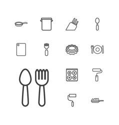 13 utensil icons vector