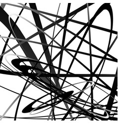 Abstract squiggle squiggly curvy lines monochrome vector
