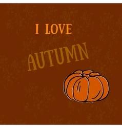 Autumn - harvest pumpkins Pumpkin print The vector image