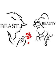 Beast beauty vector