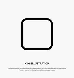 Box checkbox unchecked line icon vector