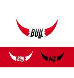Bull logo design template Flat bull logo sign vector