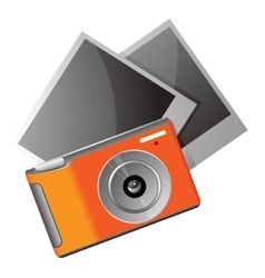 Camera with photos vector image