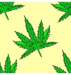 Cannabis leaf Seamless vector