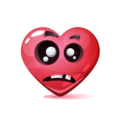 cartoon character heart dead love smiley vector image