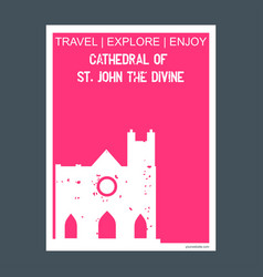 cathedral of st john the divine new york usa vector image