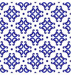 chinese blue and white pattern vector image