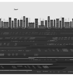 City Buildings Background vector image