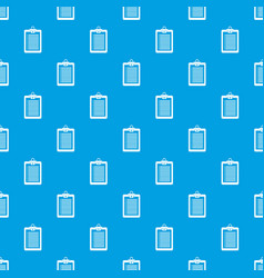 Clipboard with check list pattern seamless blue vector