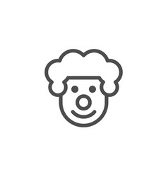 Clown line icon vector