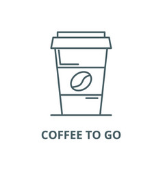 Coffee to go line icon linear concept vector