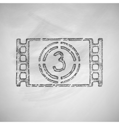 Countdown icon vector