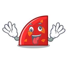 crazy quadrant mascot cartoon style vector image