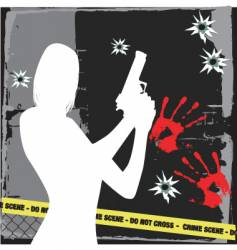 Crime vector