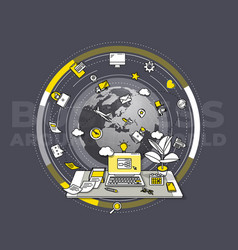 Detailed for promo poster - business vector