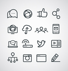 Different social media icons collection clip-art vector image