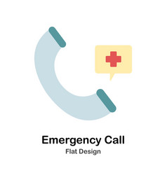Emergency call flat vector