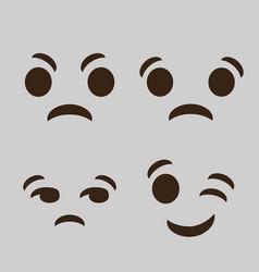 Emoticon cartoon face icon vector