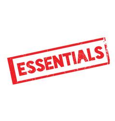 Essentials rubber stamp vector