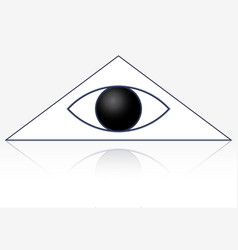 Eye in triangle vector