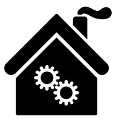 Factory building flat icon vector