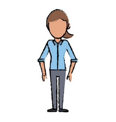 female faceless standing character image vector image vector image