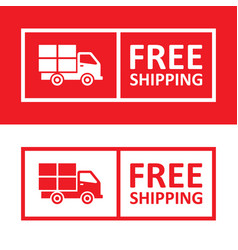 Free shipping badge with truck icon vector