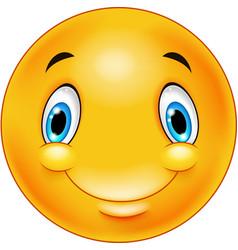 happy smiley emoticon face vector image
