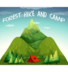 Hiking campsite vector image