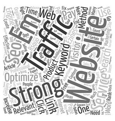 Increase Website Traffic with SEO Services text vector image