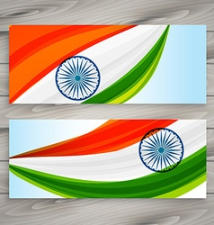 Indian flag banners vector