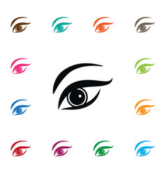 Isolated eyelid icon eyesight element can vector