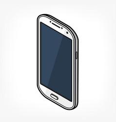 isometric phone icon vector image