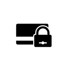 locked bank card flat icon vector image