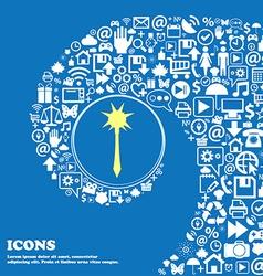 Mace sign symbol nice set of beautiful icons vector