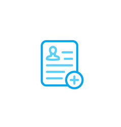 medical report clinical record patient file icon vector image