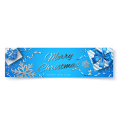 Merry christmas happy new year poster vector