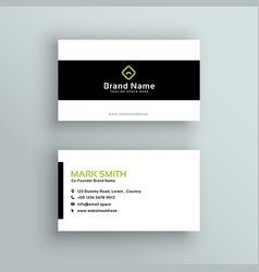 Minimal modern business card template vector