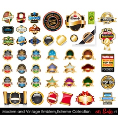 modern and vintage emblems vector image