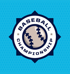 modern professional emblem for baseball game vector image