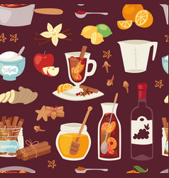 Mulled wine christmas drink multeity vector
