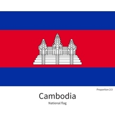 National flag of cambodia with correct proportions vector