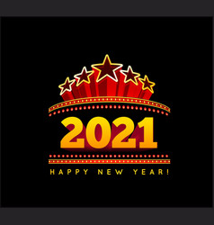 New year marquee 2021 vector