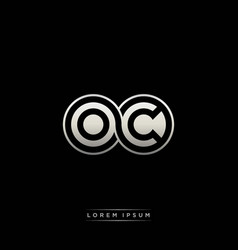 oc initial letter linked circle capital monogram vector image