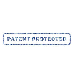 Patent protected textile stamp vector