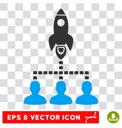 Rocket Space Community Eps Icon vector image