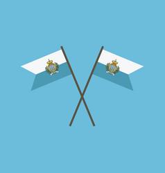 San marino flag icon in flat design vector